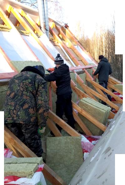 Начнем строительство крыши из натуральной черепицы через 2 дня